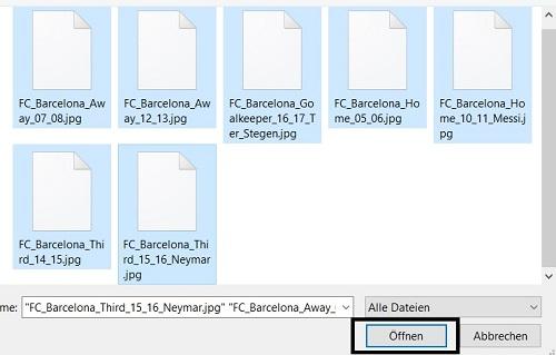 Dateien auswaehlen