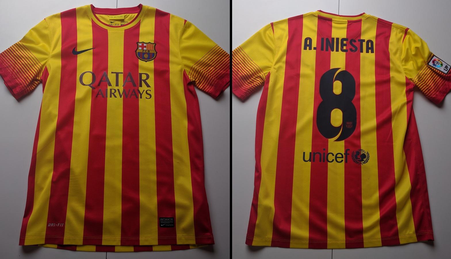 FC Barcelona Away 2013/14 Iniesta