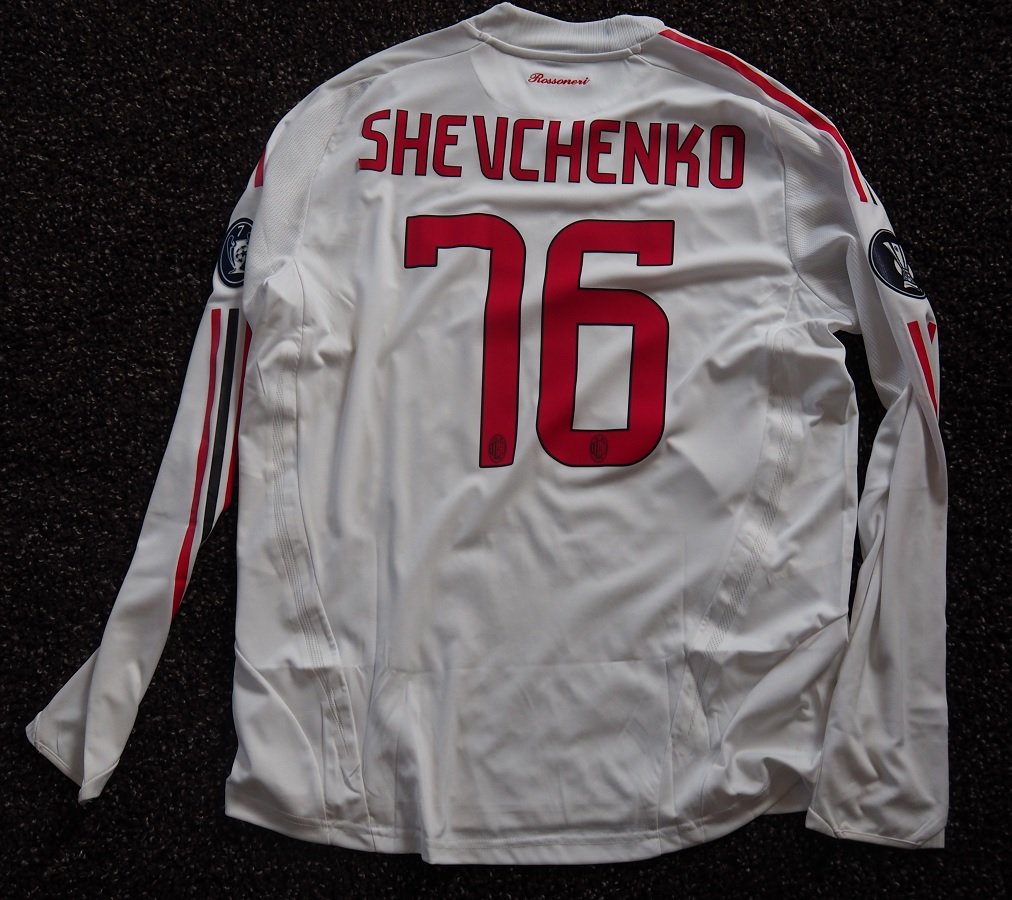 AC Milan Away 2008/09 Shevchenko Matchworn