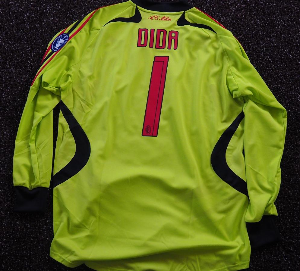 AC Milan Goalkeeper 2007/08 Dida Matchworn