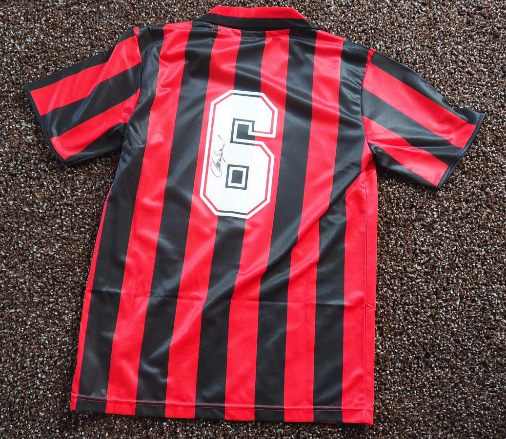 AC Milan Home 1988/89 Baresi Fanshop Signed