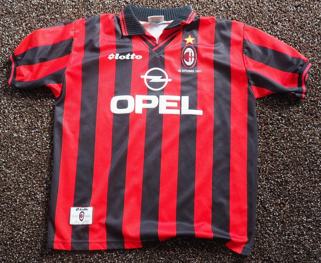 AC Milan Home 1997/98 Testimonial Game Van Basten Signed