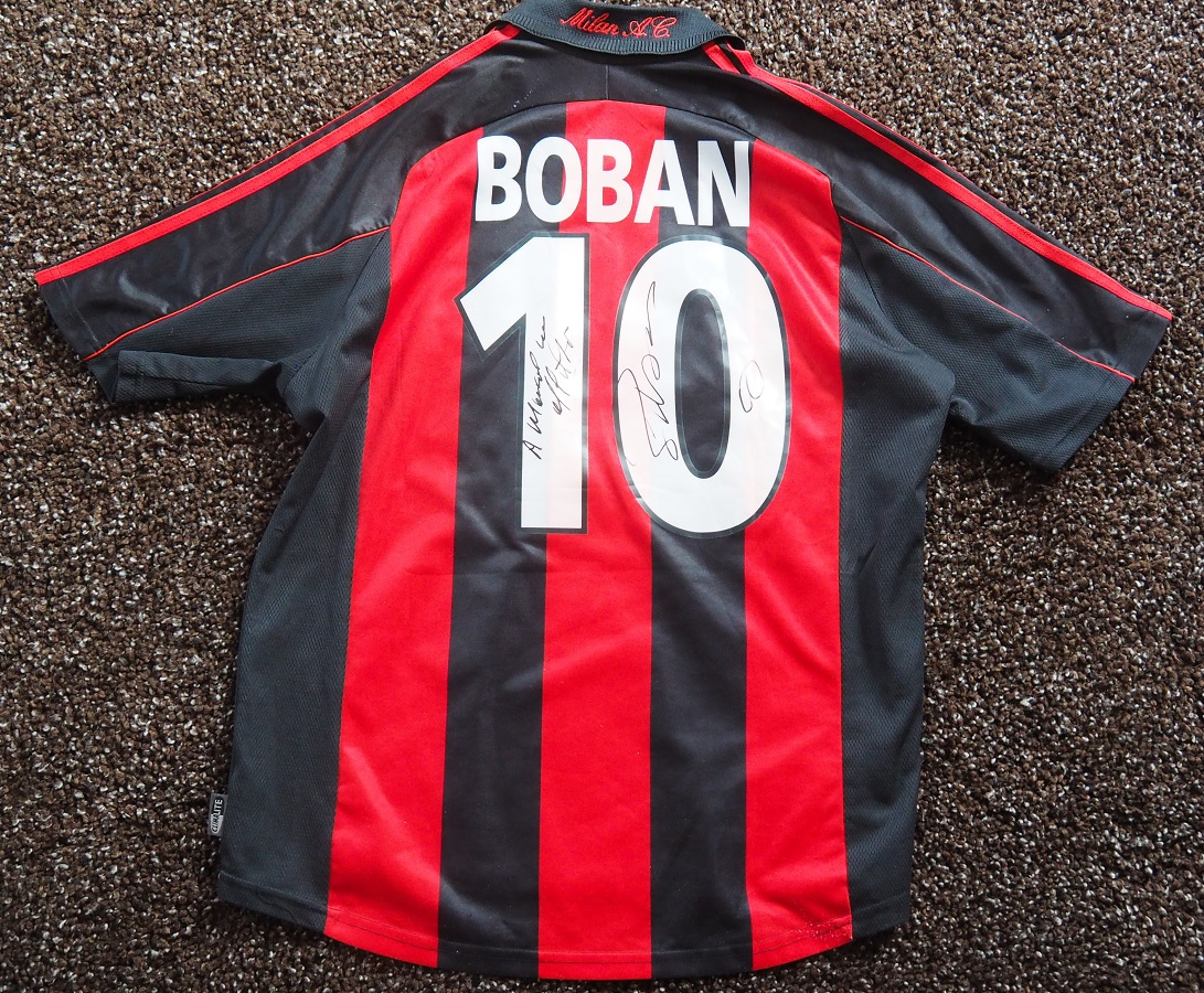 AC Milan Home 2000/01 Boban Fanshop Signed