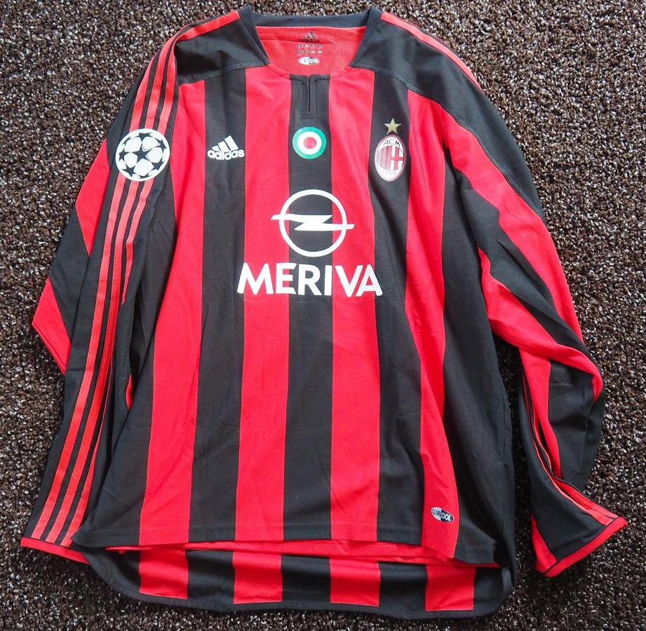 AC Milan Home 2003/04 Cafu Matchworn Signed