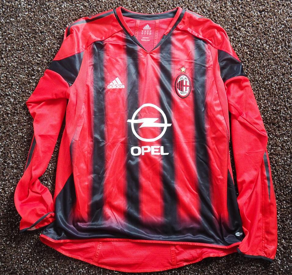 AC Milan Home 2004/05 Pirlo Fanshop Signed