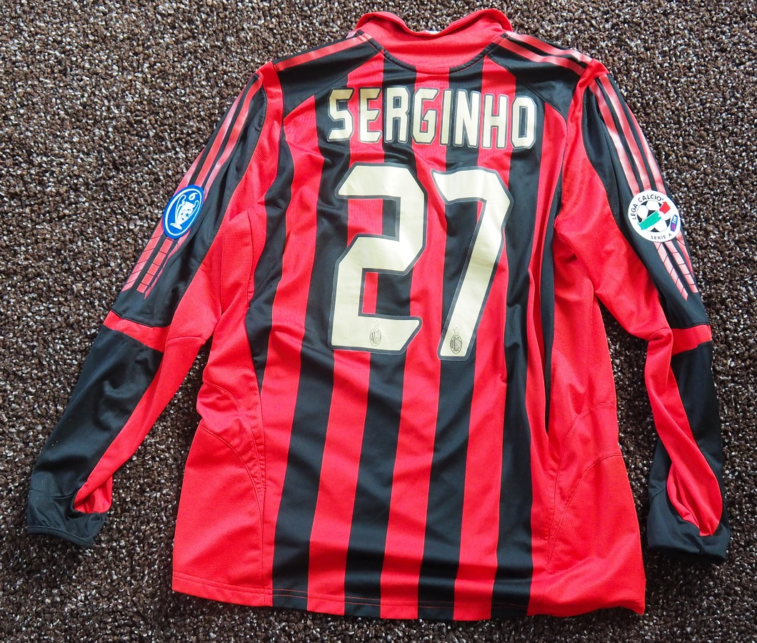 AC Milan Home 2005/06 Serginho Issued Signed by Squad