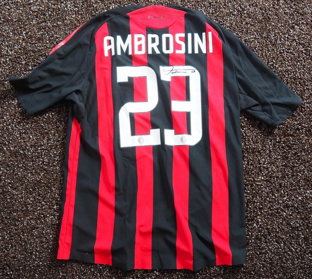 AC Milan Home 2008/09 Ambrosini Matchworn Signed