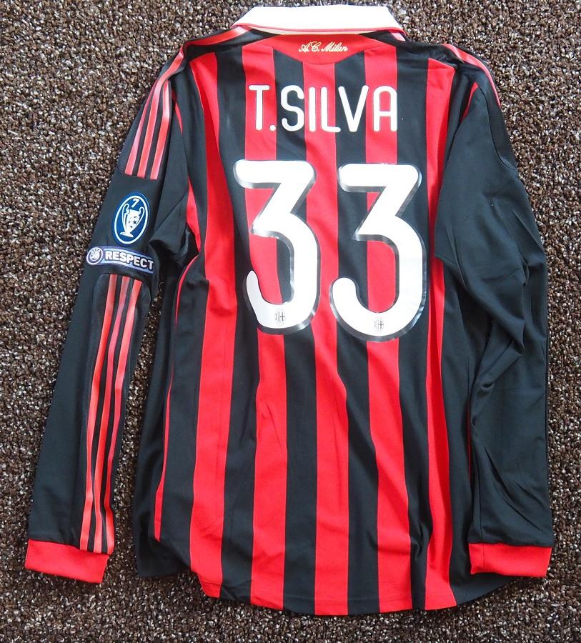 AC Milan Home 2009/10 Silva Matchworn