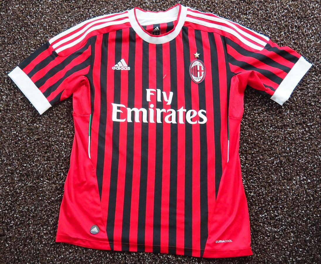 AC Milan Home 2011/12 Abate Fanshop