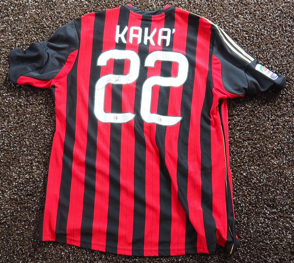 AC Milan Home 2013/14 Kaka Fanshop Signed