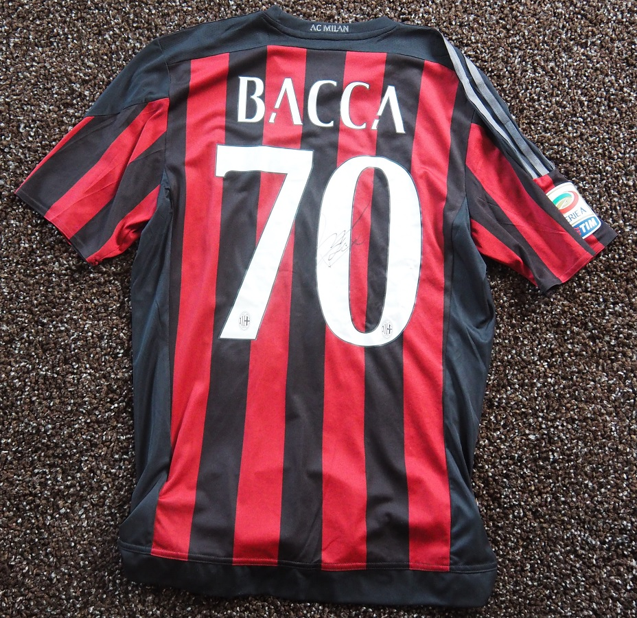 AC Milan Home 2015/16 Bacca Matchworn Signed