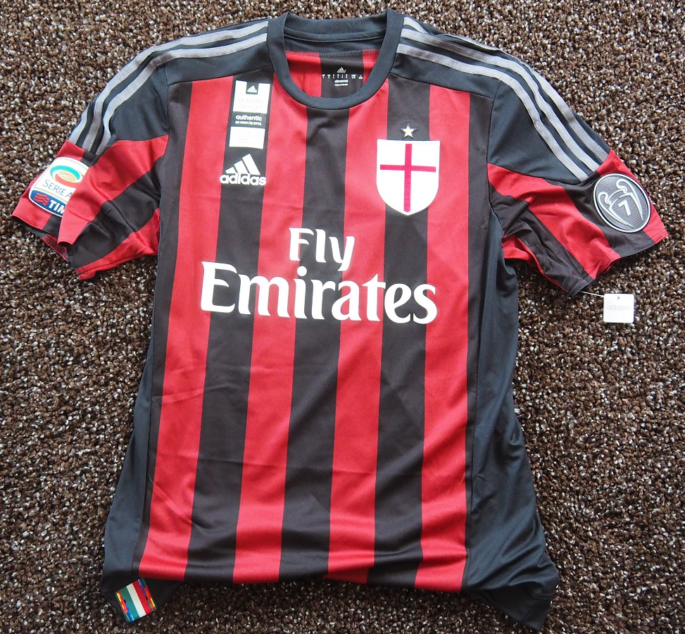 AC Milan Home 2015/16 Bonaventura Player Issue Signed