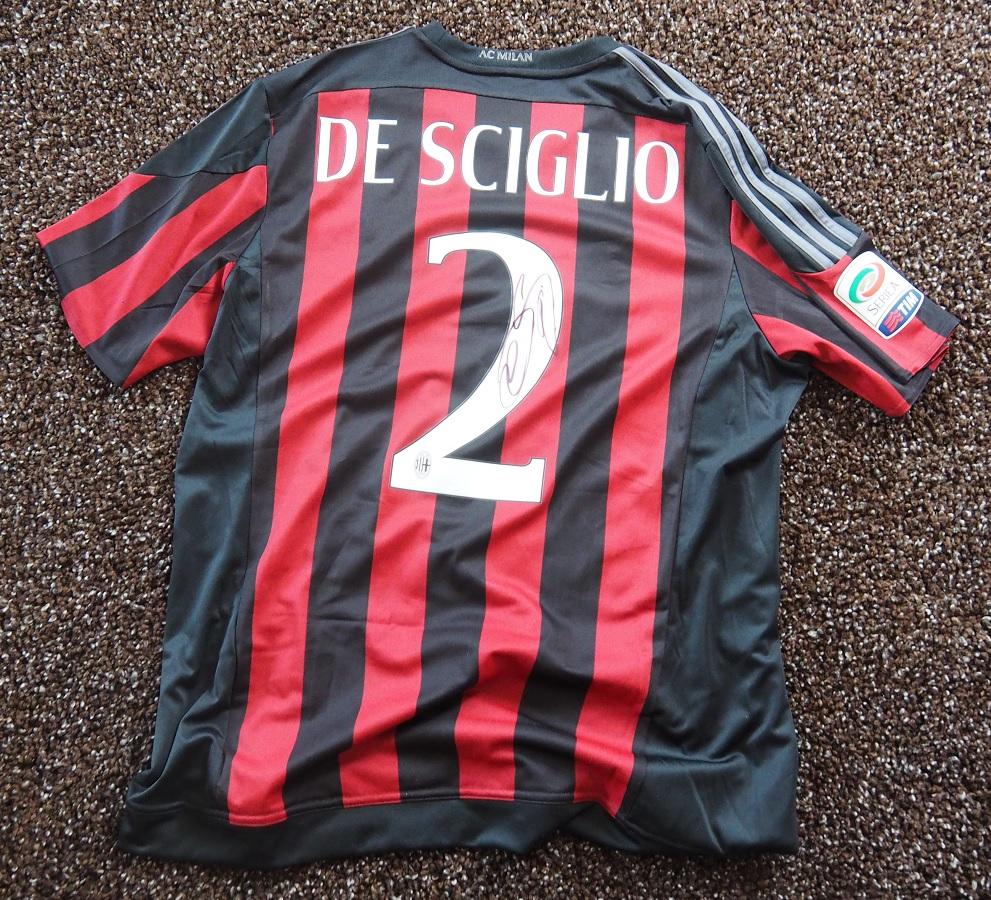 AC Milan Home 2015/16 De Sciglio Fanshop Signed