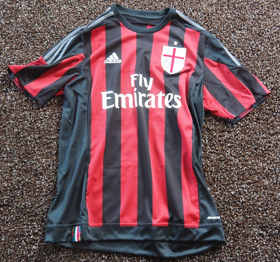 AC Milan Home 2015/16 Fanshop Signed by Cafu