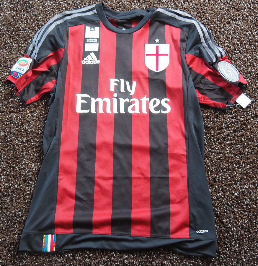 AC Milan Home 2015/16 Kucka Player Issue Signed